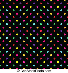 Colorful Polka Dot Pattern Vector - Background Colorful...
