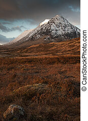 Glencoe in Winter - Buachaille Etive Beag, in Glencoe...