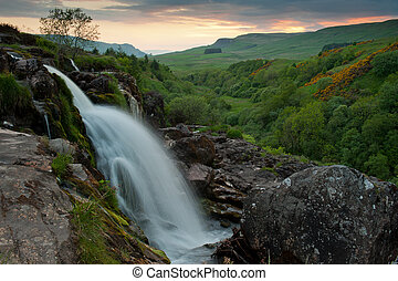Loup of Fintry - The Loup of Fintry waterfall north of...