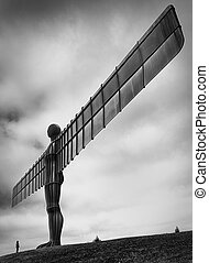 Angel of the North Gateshead UK - A large steel statue...