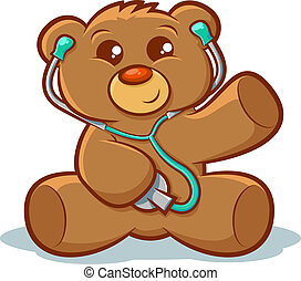 Docter Teddy bear - Cute stuffed teddy bear using a...