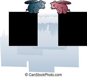 Fliying Pigs - Illustrations of an optimistic and a...