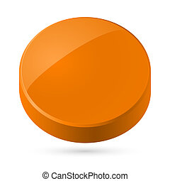 Orange disk - Illustration of orange disk isolated on white...