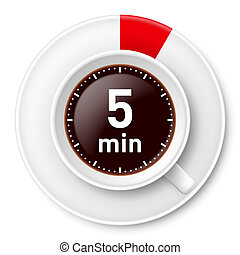 Coffee break - Cup of coffee with time limit for break: five...