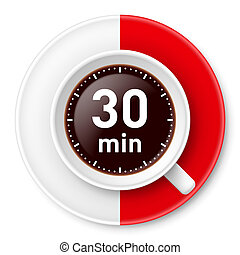 Coffee break. - Cup of coffee with time limit for break:...