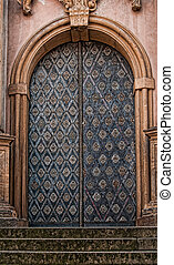 Ornamental Cathedral door in Stone