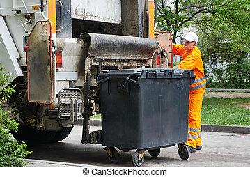 urbano, reciclagem, desperdício, Lixo,...