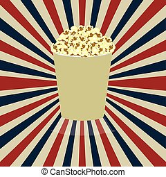 pop corn - pop corn design over grunge background vector...
