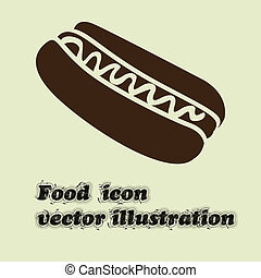 hot dog design over white background vector illustration