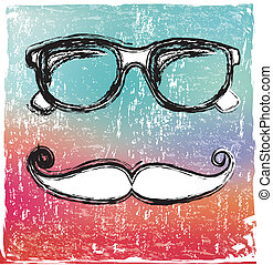hipster design over rustic background vector illustration