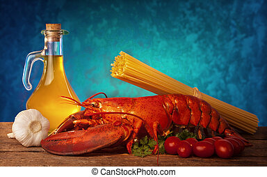 Recipe of lobster with linguine - Ingredients of lobster...