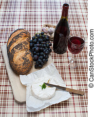 french food snack - simple french food laid out on a table