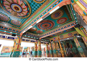 Sri Mahamariamman Indian Temple - Main Prayer Hall at Sri...