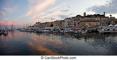 Cannes after sunset - Cannes, France after the sunset