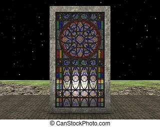monument - stained glass monument