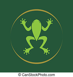 Vector image of an frog .