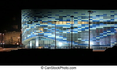 Night illumination Palace of Sports - Night illumination of...