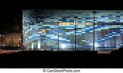 Night illumination Palace of Sports - Night illumination of...