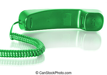 telephone receiver - communication. telephone receiver with...