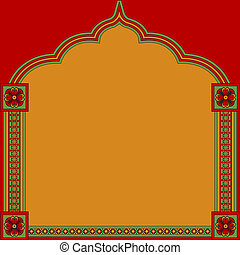 floral pattern frame - Ethnic background with floral pattern...