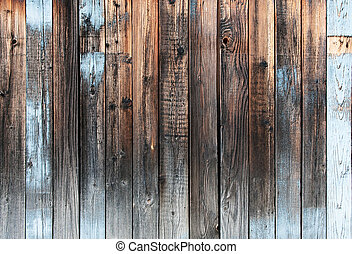 wooden backgrond - Old rustic wooden backgrond in blue brown...