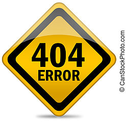 404 error sign isolated on white
