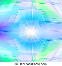 Abstract background - Abstract geometric background in light...