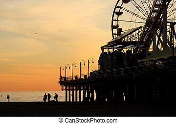 Santa Monica Pier at Dusk - Dusk and the Santa Monica pier...