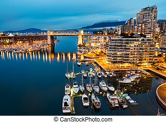 Burrard Street Bridge in Downtown Vancouver - Downtown...
