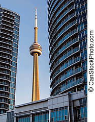Torontos CN Tower Framed by Building - Building Frames...