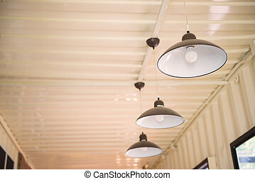 Arrangement of hanging lighting