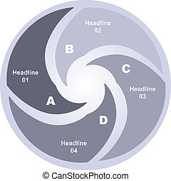 Infographic vector circle