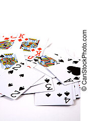 Playing Cards - Isolated - Playing Cards Spread on the Table