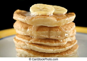 Banana Pancakes 2 - Delicious pancakes with banana, honey...