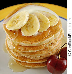 Banana Pancakes 6 - Delicious pancakes with banana, honey...