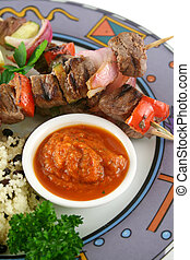 Beef Kababs 10 - Beef kebabs and currant couscous with...