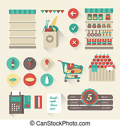 Supermarket icons - Vector Supermarket icon set