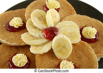 Butter And Jam Pancakes 1