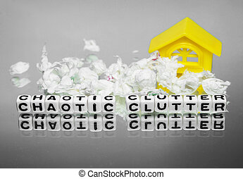 Chaotic clutter and home - Chaotic clutter surrounding home...