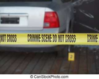 Yellow Tape Marks Crime Scene