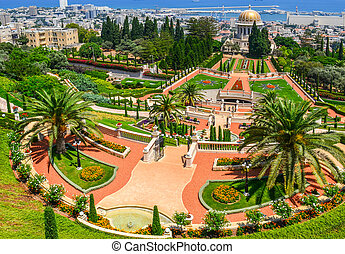 A beautiful picture of the Bahai Gardens in Haifa Israel