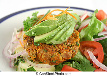 Carrot And Tuna Patties 1 - Carrot And tuna patties on a...