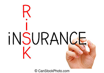 Risk Insurance Crossword - Hand writing Risk Insurance...