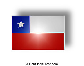 Flag of Chile stylized I - National flag and ensign of Chile...
