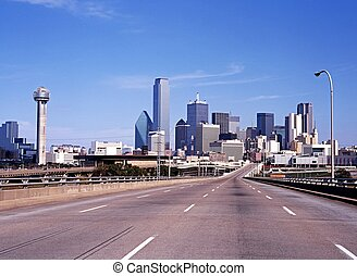 City skyscrapers, Dallas, USA. - View of the city...