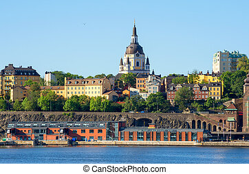 Sodermalm Stockholm, Sweden - View towards Sodermalm and St...