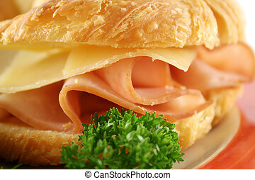 Cheese And Ham Croissant - Delicious ham and cheddar cheese...