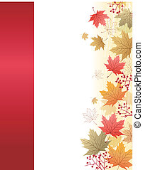 Maple leaves corner background - Autumn Maple leaves corner...