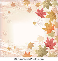Autumn Maple leaves background. Japanese pattern. File...