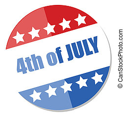4th of july badge vector Illustration